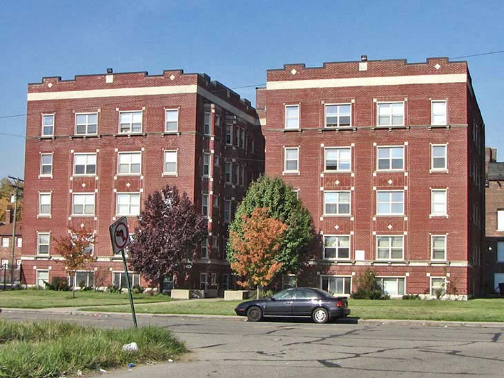 nelson court and west chicago boulevard apartment buildings