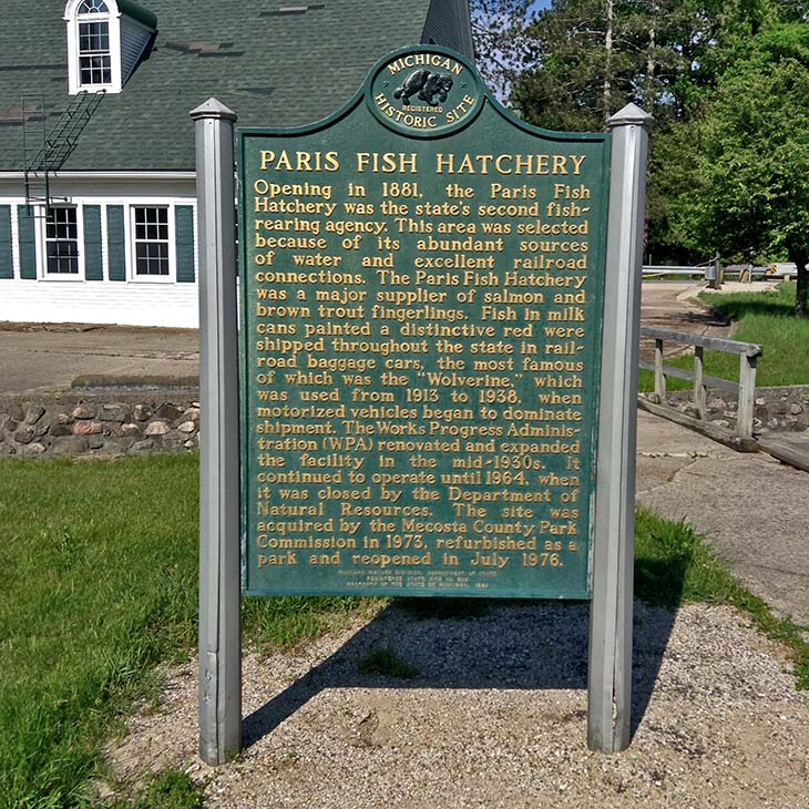 Paris fish hatchery for Fish hatchery michigan